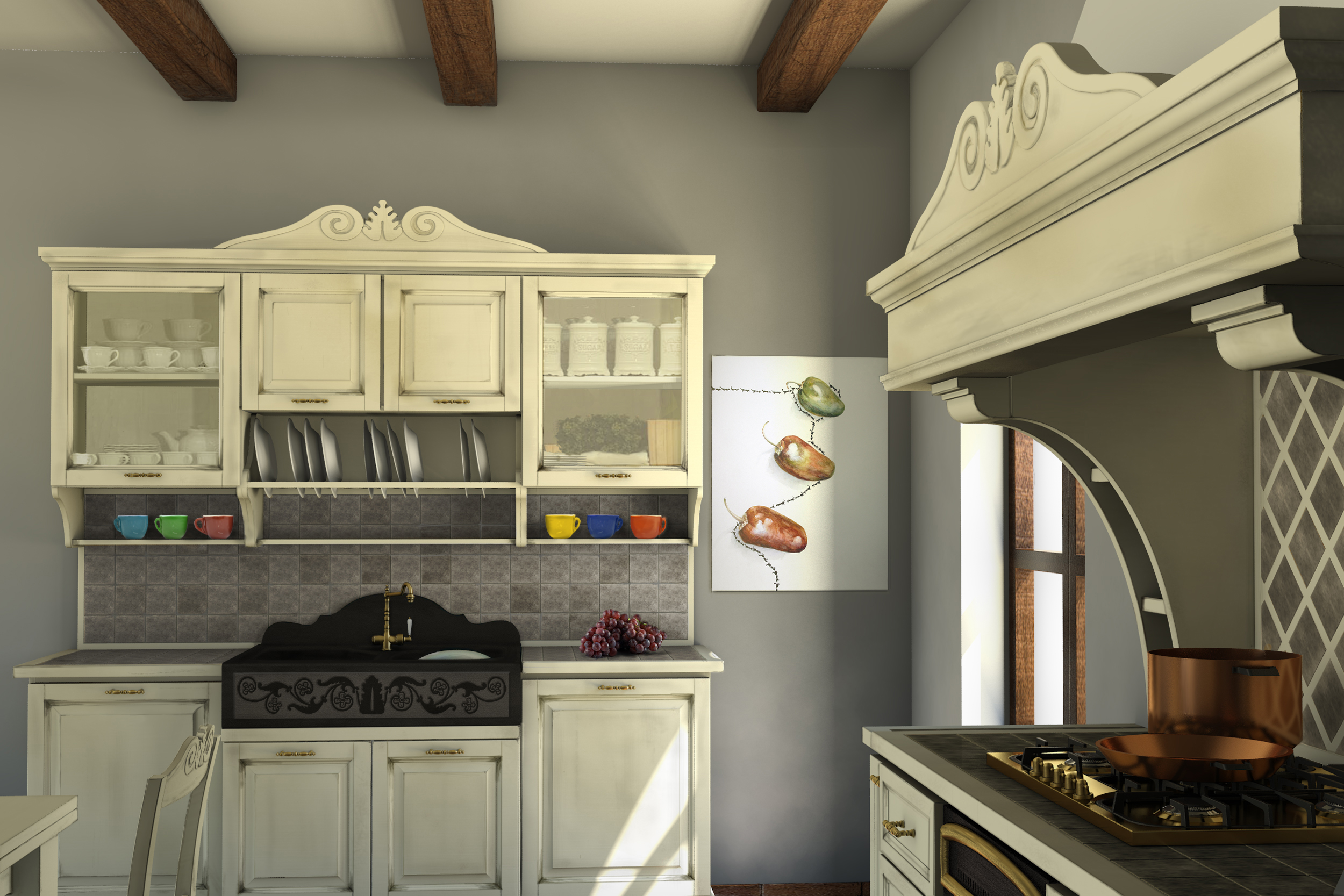 Best cucine country chic contemporary - Cucina a legno ...