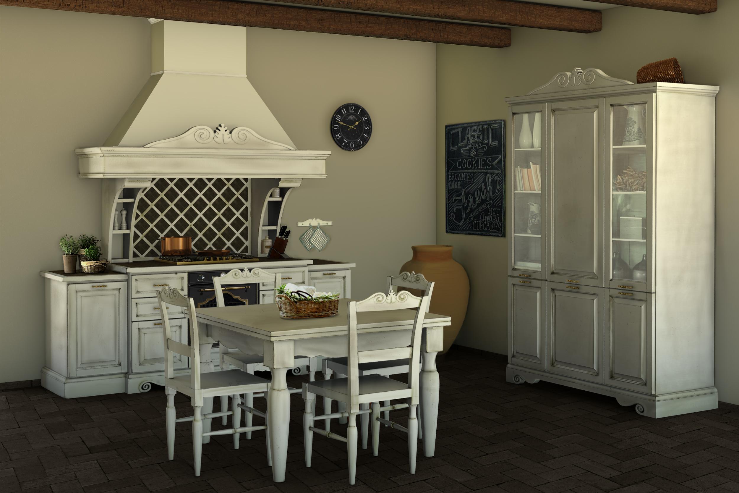 Cucina Della Nonna Classica Shabby Chic Decapè. Blocco Lavello E  #946837 2500 1667 Immagini Di Cucine Snaidero