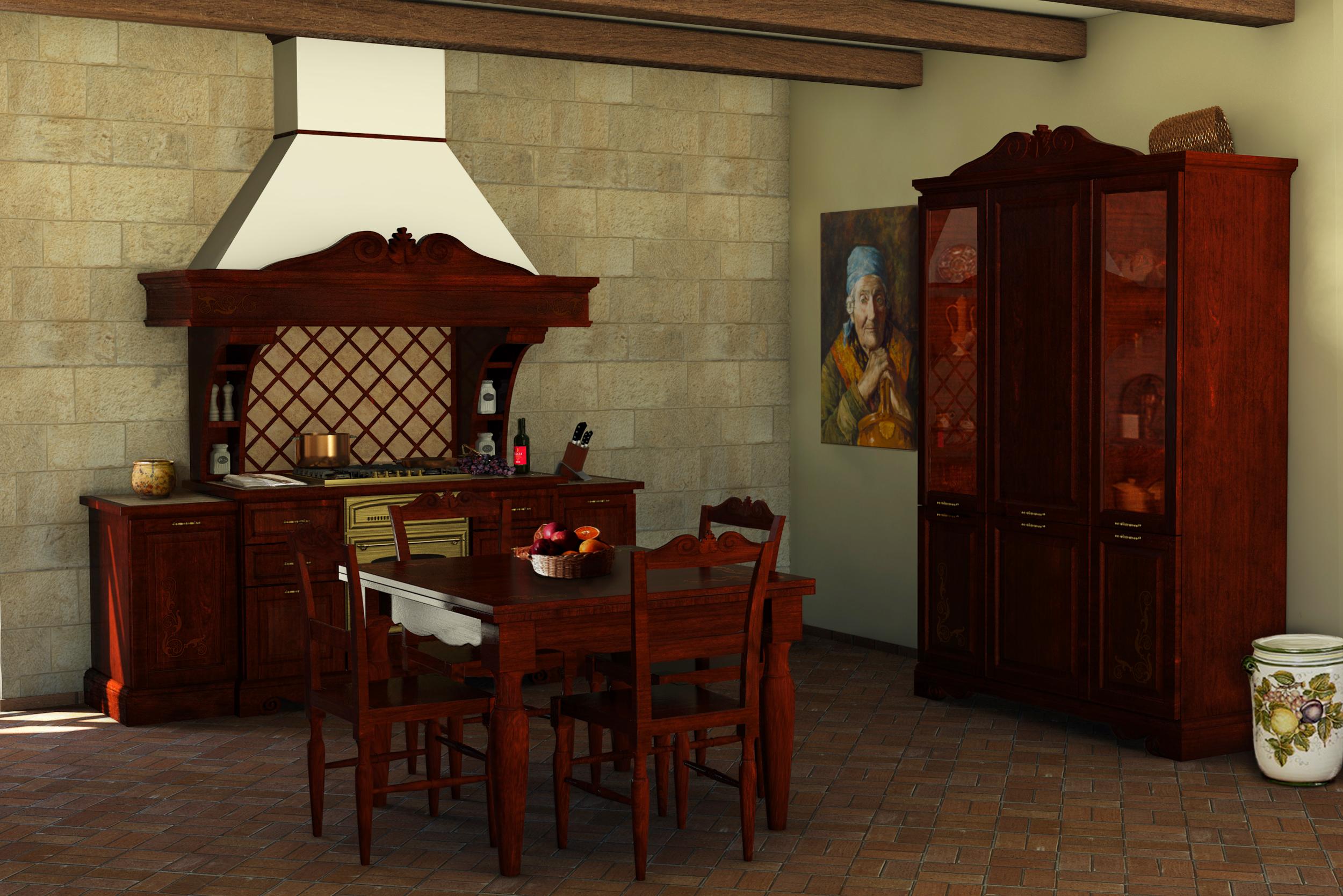 Cucine della nonna cucine classiche in legno massello for Cucine classiche