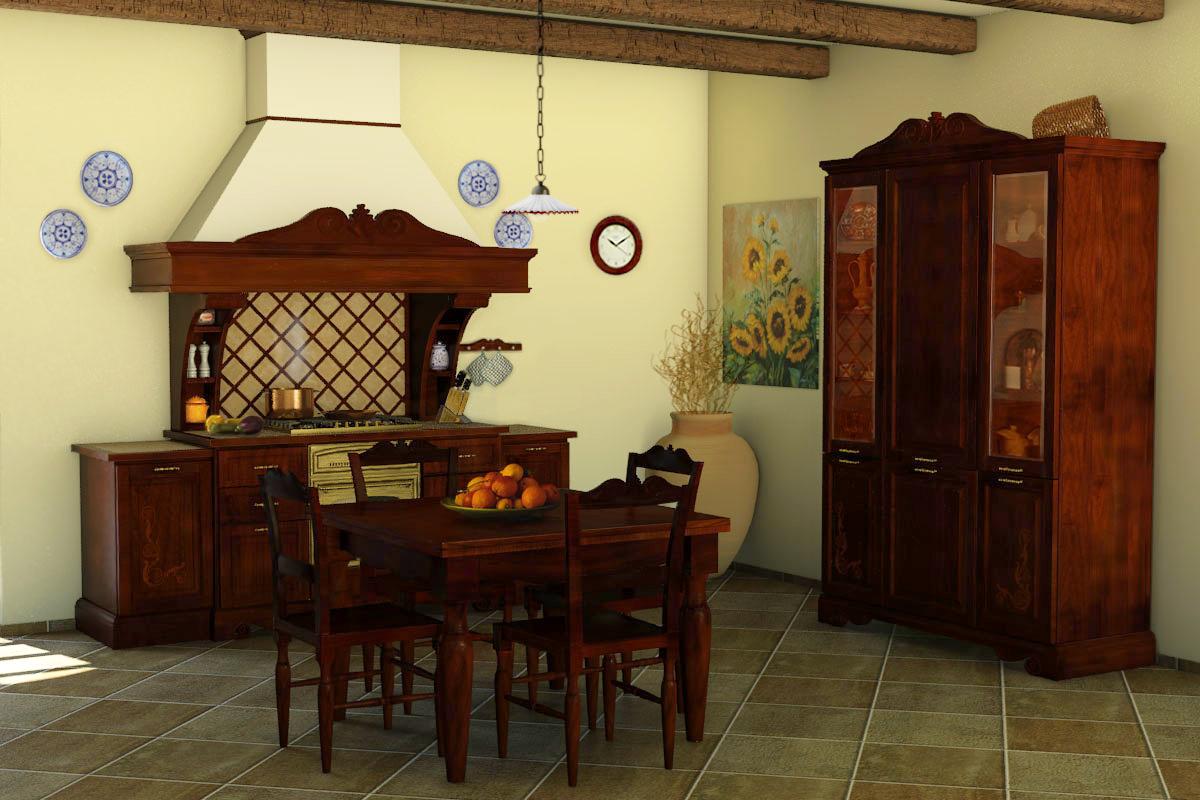 Cucine della nonna cucine classiche in legno massello - Cucine legno massello ...